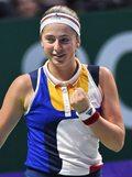 WTA Finals: Jelena Ostapenko - Karolina Pliszkova 6:3, 6:1