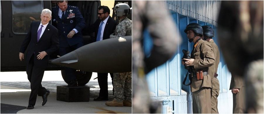 Wojna z Koreą Północną nie jest celem Waszyngtonu - zapewnił szef Departamentu Obrony USA James Mattis podczas wizyty w rozdzielającej obie Koree strefie zdemilitaryzowanej. Jak zaznaczył, celem amerykańskich władz jest rozpoczęcie procesu, który doprowadziłby do pełnej denuklearyzacji Półwyspu Koreańskiego.