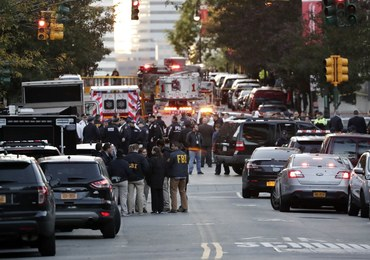 """Zamach w Nowym Jorku. """"Tchórzliwy akt terroru obłąkanego osobnika"""""""