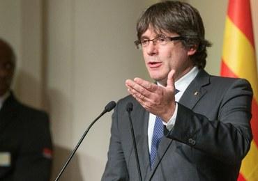"""Puigdemont oskarża UE o wspieranie """"zamachu stanu"""" w Katalonii"""