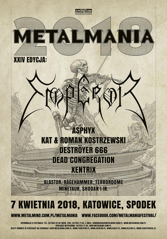 Katowicki Kat & Roman Kostrzewski oraz krakowski Ragehammer – to kolejni grupy, które zobaczymy 7 kwietnia 2018 roku na XXIV Metalmanii w katowickim Spodku.