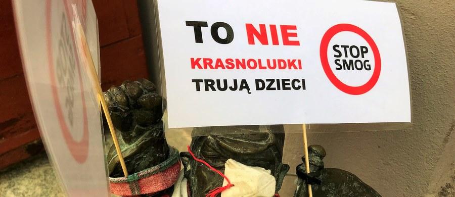 Krasnale z Wrocławia włączyły się do kampanii walki ze smogiem. Figurki, z których słynie dolnośląska stolica z okazji Dnia Czystego Powietrza otrzymały maseczki i specjalne transparenty. Mają one przypomnieć o tym, że walka ze smogiem to walka o zdrowie i życie najmłodszych mieszkańców regionu. Akcję zorganizował Dolnośląski Alarm Smogowy.