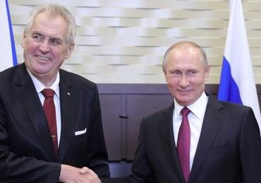 Prezydent Czech na spotkaniu w Rosji: Trzeba skończyć z sankcjami