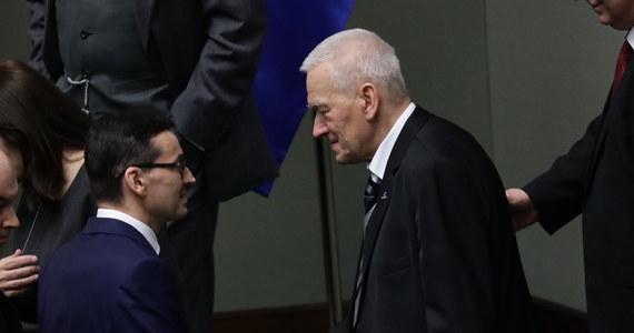 """Byłem bardzo wzruszony - powiedział po expose premiera Mateusza Morawieckiego jego ojciec Kornel Morawiecki (WiS). Jak podkreślił, w przemówieniu było """"za dużo konkretów"""". Dodał, że przedstawiony plan to plan nie na dwa lata, ale na więcej."""
