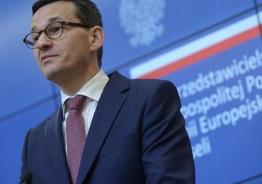 """Morawiecki pierwszy raz w nowej roli w Brukseli. """"Tusk zaczyna mówić w taki sposób jak Polska"""""""