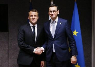 Macron poruszył na spotkaniu z Morawieckim kwestię praworządności w Polsce