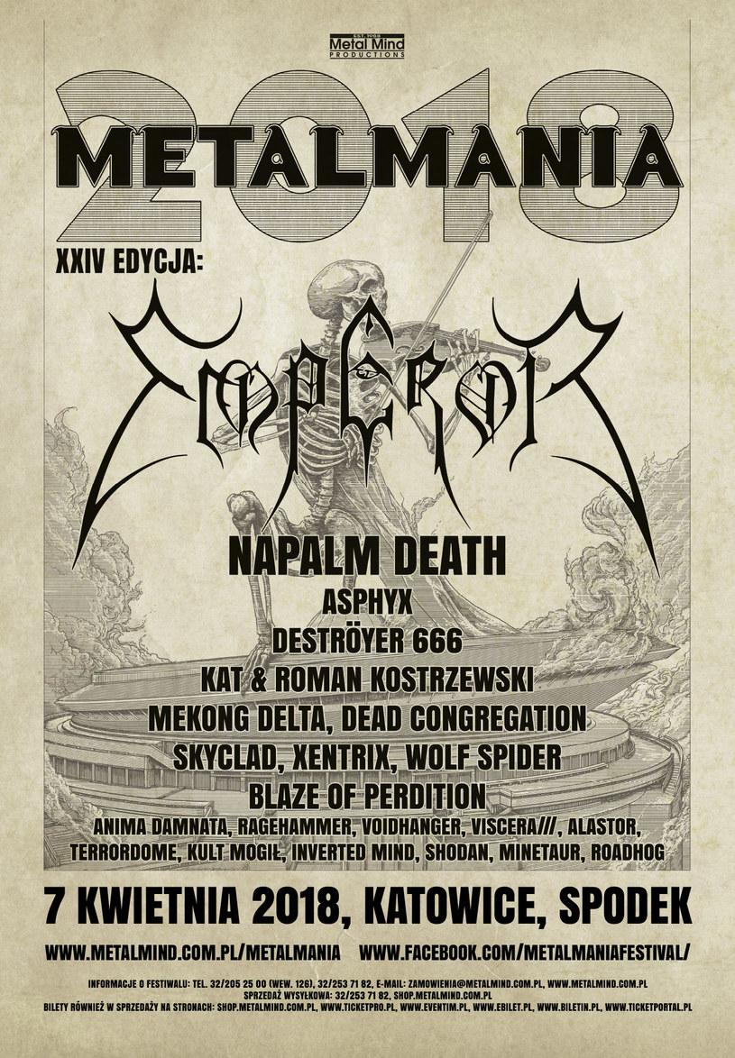Poznaliśmy szczegółowy harmonogram koncertów XXIV edycji Metalmanii (7 kwietnia w katowickim Spodku).