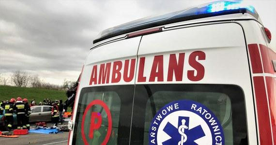 """Dwoje dzieci i troje dorosłych trafiło do szpitala po karambolu na krajowej """"10"""" w Kruszynie w powiecie bydgoskim. Zderzyły się tam autobus i 4 samochody osobowe."""