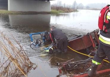 Ciężarówka spadła z mostu, kierowca się utopił. Wiadomo, dlaczego doszło do wypadku