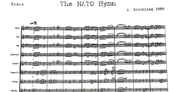Organizacja Paktu Północnoatlantyckiego NATO ma własny oficjalnie zatwierdzony hymn - piszą media. To melodia, która towarzyszyła różnym wydarzeniom NATO-wskim od roku 1989, gdy Sojusz obchodził swoje 40. urodziny.