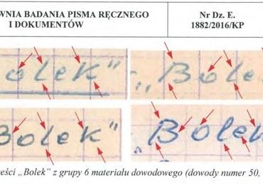 """IPN opublikował ekspertyzę grafologiczną ws. teczki TW """"Bolek"""""""