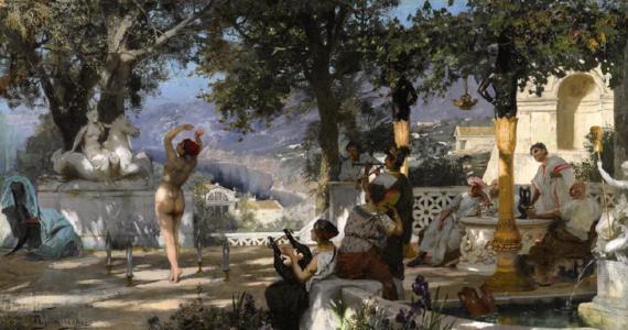 """""""Londyński dom aukcyjny zwrócił niemieckiemu właścicielowi obraz Henryka Siemiradzkiego, którego sprzedaż została zablokowana w poprzednim roku"""" - podaje """"Rzeczpospolita"""". Chodzi o """"Taniec wśród mieczów"""". Polskie władze informowały, że będą chciały odzyskać to dzieło, które zaliczane jest to strat wojennych."""