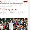 """Der Spigel i ...""""opozycja w Polsce uległa  rozpadowi """""""