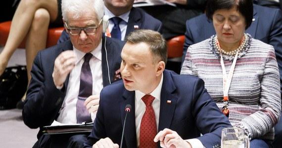 Nie tylko agresja, ale także wszelkie próby budowania agresywnych zdolności, zawsze powinny być traktowane jako naruszenie międzynarodowych norm – mówił prezydent Andrzej Duda w Nowym Jorku podczas otwartej debaty w Radzie Bezpieczeństwa ONZ. Czwartkowa otwarta debata wysokiego szczebla w Radzie Bezpieczeństwa ONZ jest pierwszą okazją po objęciu niestałego członkostwa w RB do zabrania głosu przez Polskę na szczeblu głowy państwa. Debatę poświęconą kwestii nierozprzestrzeniania broni masowego rażenia zorganizował Kazachstan, który obecnie sprawuje prezydencję w Radzie.