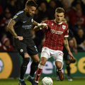 Bristol City - Manchester City 2-3 w półfinale Pucharu Ligi