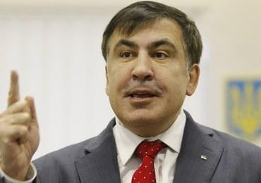 """Nocny areszt domowy dla Saakaszwilego. """"To sprzedajne kanalie!"""""""