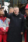 Pjongczang 2018. Przewodniczący MKOl Thomas Bach wizytuje obiekty olimpijskie