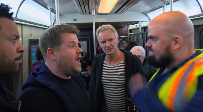 """Widzowie mocno skrytykowali najnowszy odcinek """"Carpool Karaoke"""", w którym gwiazdami byli Sting i Shaggy. Zobaczcie sami, co się wydarzyło w nowojorskim metrze."""