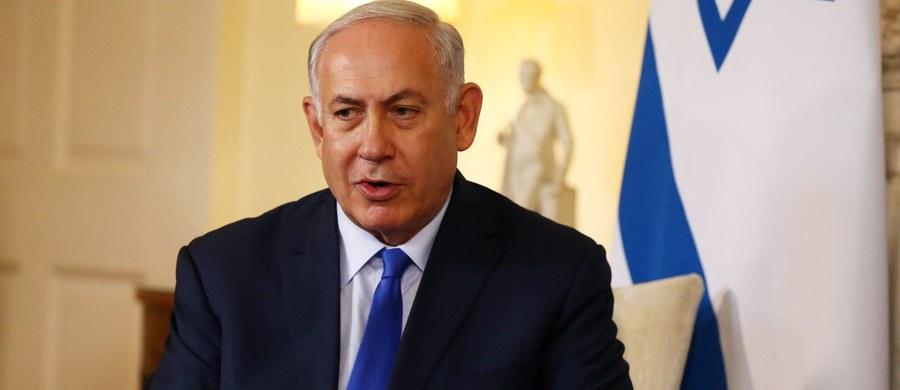 """Premier Izraela Benjamin Netanjahu oświadczył w niedzielę na posiedzeniu swego rządu, że jego kraj zadał """"ciężkie ciosy"""" siłom syryjskim i irańskim w Syrii. Zapowiedział też dalsze działania wymierzone we wrogów państwa żydowskiego."""