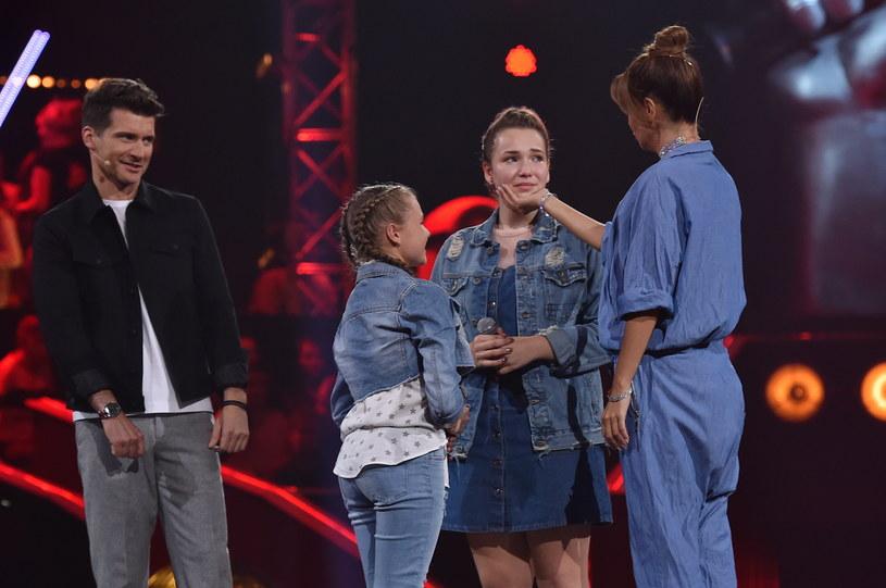 """Natalia Zastępa, Roksana Węgiel i Mateusz Gędek to podopieczni Edyty Górniak w """"The Voice Kids"""", którzy awansowali do finałowego odcinka programu."""