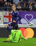 Sint-Truidense VV - Anderlecht 1-0. Cały mecz Łukasza Teodorczyka