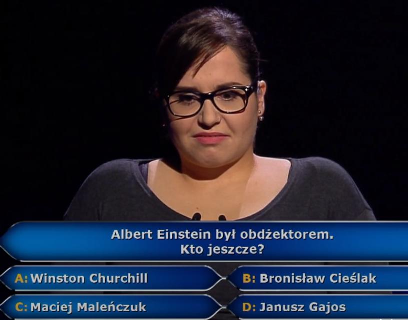 """250 tys. zł wygrała w """"Milionerach"""" prawniczka z Krakowa. Gdyby posłuchała podpowiedzi z publiczności, miałaby dalej szansę na główną wygraną."""