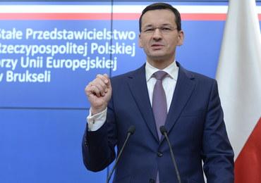 Morawiecki o budżecie UE: Polska była po złej stronie żelaznej kurtyny, musi nadrabiać straty