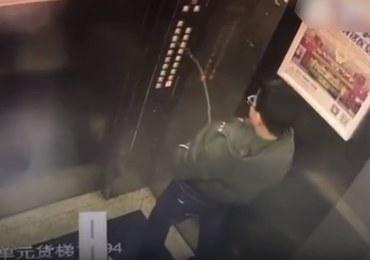 Utknął w windzie, bo oddał mocz na przyciski. Wszystko zarejestrowały kamery