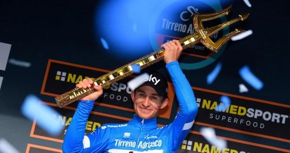 Michał Kwiatkowski odniósł prestiżowe zwycięstwo we Włoszech. Wygrał siedmioetapowy wyścigu Tirreno-Adriatico. O wszystkim przesądził 10-kilometrowa jazda indywidualna na czas. Kwiatkowski miał 12. rezultat, ale co najważniejsze, był szybszy od swojego najgroźniejszego rywala.