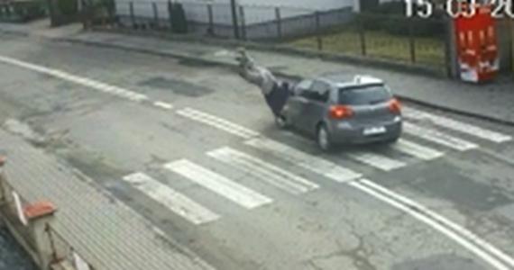 Policja z Wodzisławia Śląskiego bada okoliczności potrącenia pieszego, do którego doszło na przejściu dla pieszych w Lubomi. Ku przestrodze funkcjonariusze opublikowali nagranie z monitoringu pokazujące to zdarzenie.
