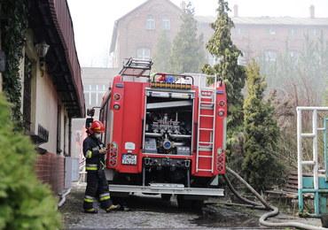 Śląsk. Pożar w cechowni po kopalni Anna