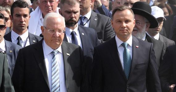 """Izraelski portal """"Times of Israel"""" napisał, że podczas wizyty w Polsce związanej z Marszem Żywych prezydent Izraela Reuven Riwlin miał powiedzieć, że """"Polska i Polacy pomagali w nazistowskiej eksterminacji"""". Prezydent Andrzej Duda zaprzeczył jednak, żeby takie słowa padły."""