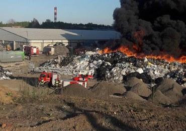 Potężny pożar w Siemianowicach Śląskich: Ogień objął składowisko odpadów