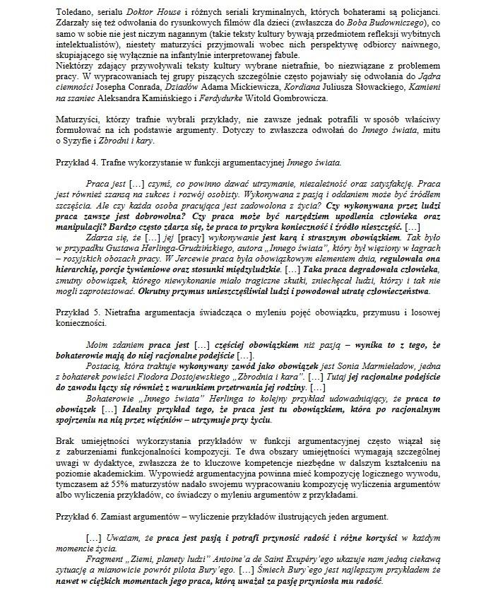 matura 2018 polski wypracowanie