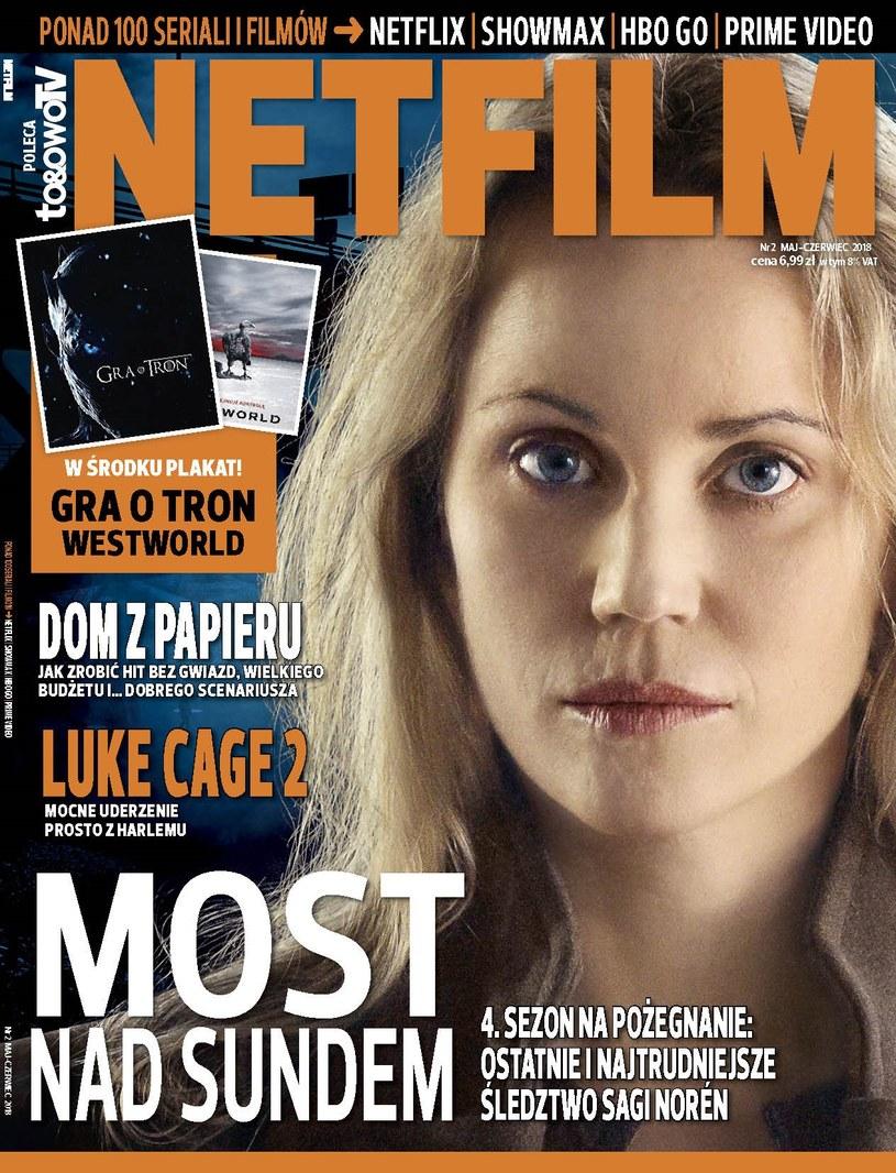 """W drugim numerze magazynu """"Netfilm"""" (w sprzedaży od 8 maja) znajdziemy między innymi recenzje i opisy ponad 100 filmów i seriali dostępnych w ofercie Netflix, Showmax, HBO GO i Amazon Prime Video."""