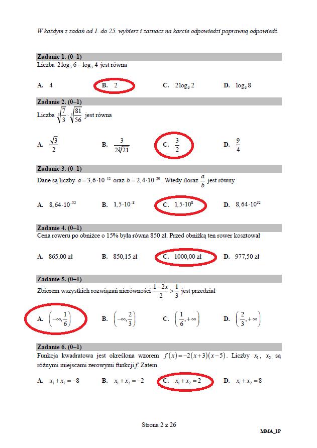 matura 2018 matematyka rozszerzona odpowiedzi