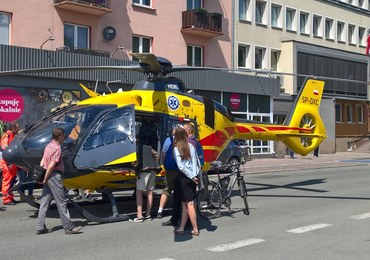 Śmigłowiec LPR zablokował centrum Opola. Ma awarię