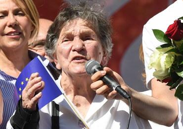 """Traczyk-Stawska: Przyszłam na """"Marsz Wolności"""", by prosić o pomoc dla najsłabszych"""