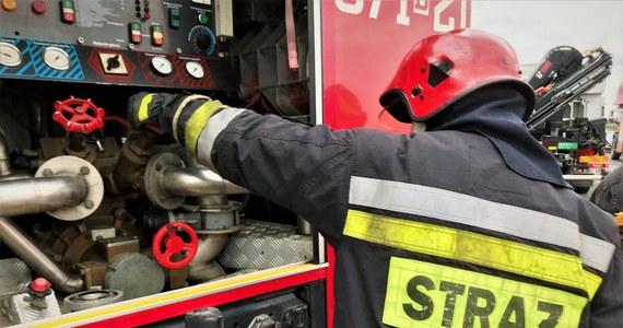 Pożar mieszkania w kamienicy na Starych Bałutach w Łodzi. Dwie osoby są poszkodowane. Kilkunastu mieszkańców kamienicy ewakuowano - poinformowali strażacy, którzy na miejscu prowadzili akcję gaśniczą.