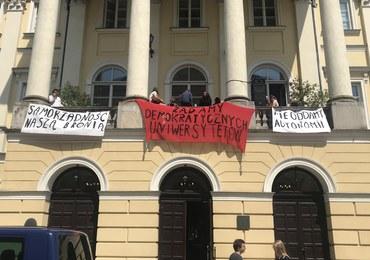 Protest studentów i pracowników Uniwersytetu Warszawskiego. Nie chcą tzw. ustawy Gowina
