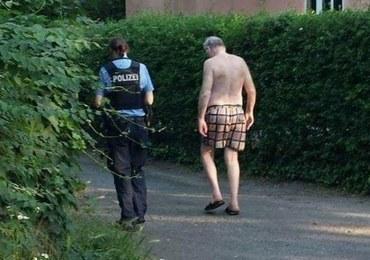 """Szef niemieckich prawicowców w samych kąpielówkach. """"To nie miejsce dla nazistów!"""""""