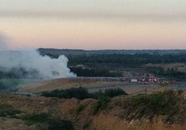 Pożar składowiska odpadów w Bytomiu. Strażacy w akcji