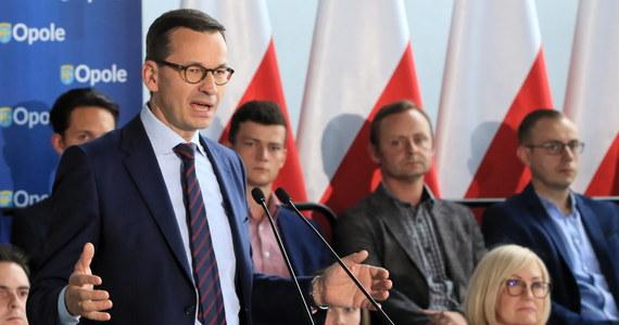 """""""Opozycja zaapelowała do Brukseli, żeby zamroziła środki unijne dla Polski. My niczego nie chcemy zamrażać, my chcemy rozgrzać polską gospodarkę"""" - powiedział w piątek w Opolu premier Mateusz Morawiecki."""