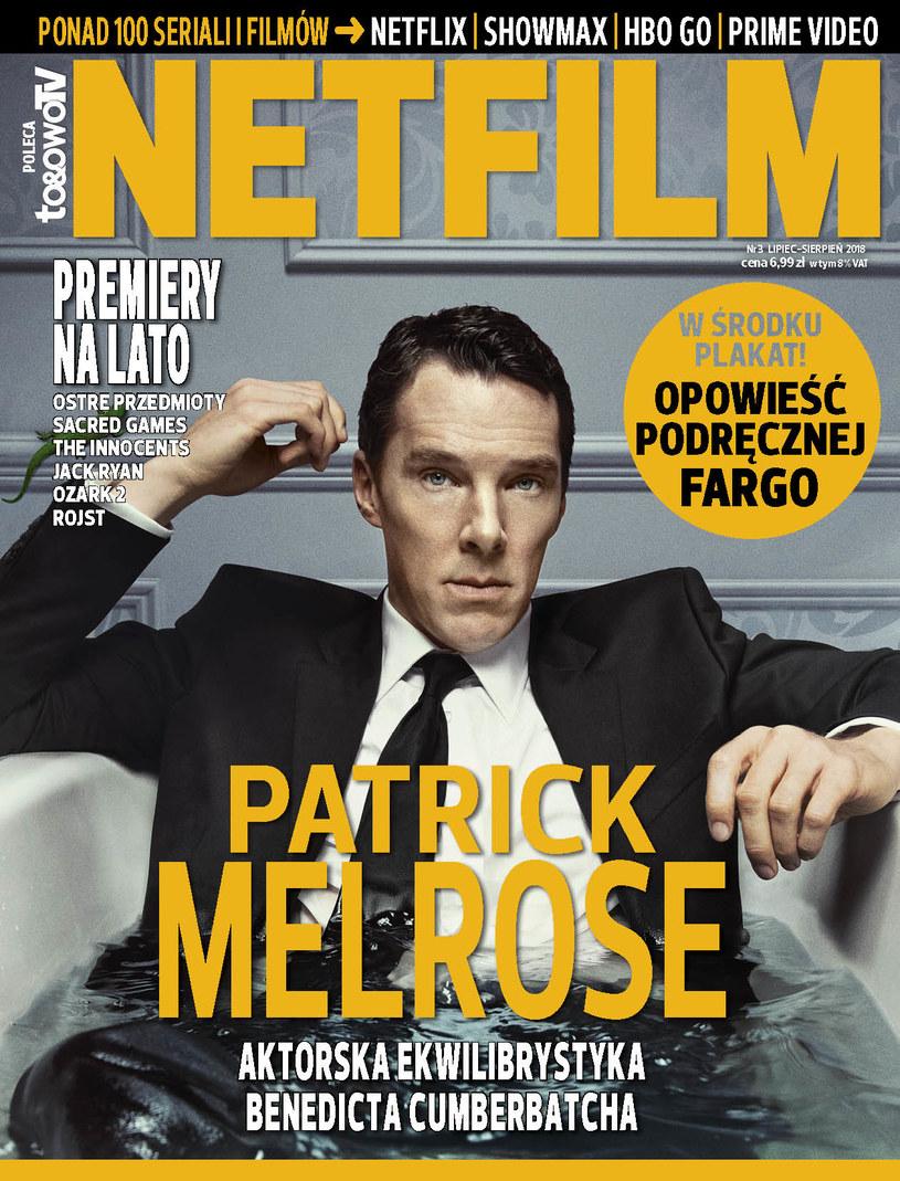 """W trzecim numerze magazynu """"Netfilm"""" (w sprzedaży od 3 lipca) znajdziemy między innymi recenzje i opisy ponad 100 filmów i seriali dostępnych w ofercie serwisów Netflix, Showmax, HBO GO i Prime Video."""