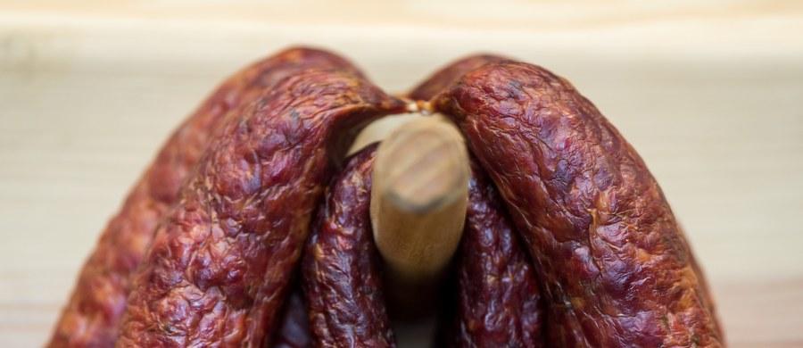 """Główny Inspektorat Sanitarny ostrzega przed bakteriami Listeria monocytogenes, które wykryto w produkcie """"Kiełbasa śląska z szynki ekstra"""" o numerze partii 04128 i terminie przydatności do spożycia 15.07.2018. Jedzenie kiełbasy z tej partii może być groźne dla zdrowia."""