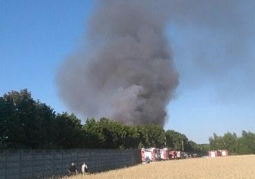 Łódzkie: Pożar w składowisku odpadów opanowany
