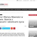 PIERWSZY MARSZ RÓWNOŚCI NA WSCHODNIEJ ŚCIANIE! BRAWO RZESZOWIANIE !!.