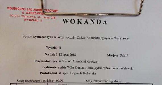 """Wojewódzki Sąd Administracyjny w Warszawie nieprawomocnie uchylił decyzję szefa Kancelarii Sejmu o odmowie ujawnienia m.in. nazwisk sędziów popierających zgłoszenia kandydatów do Krajowej Rady Sądownictwa. Skargę w tej sprawie złożyła Sieć Obywatelska """"Watchdog""""."""