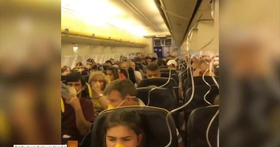 Ponad 30 osób zostało poszkodowanych wskutek awarii samolotu linii Ryanair, który awaryjnie lądował we Frankfurcie 15 lipca. W kabinie gwałtownie spadło ciśnienie, wtedy też automatycznie znad głowy każdego pasażera wypadła maska tlenowa. Na pokładzie znajdowało się 189 pasażerów, spośród których 33 trafiło do szpitala. Wzrost ciśnienia spowodował u nich krwawienie z uszu. Na nagraniu autorstwa jednego z podróżujących widać, że na pokładzie nie było wybuchu paniki, panował spokój. Samolot leciał z Dublina do Zadaru.
