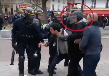 Zarzuty dla wiceszefa kancelarii Macrona. Przebrał się za policjanta, by bić uczestników protestu